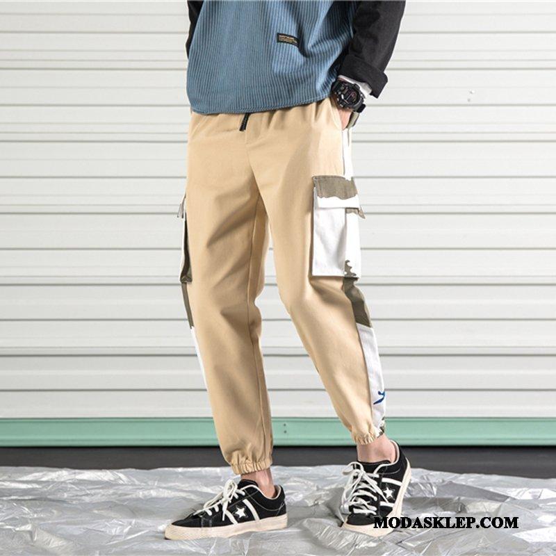 Męskie Spodnie Cargo Sprzedam Wiosna 2019 Casualowe Spodnie Slim Fit Męska Khaki