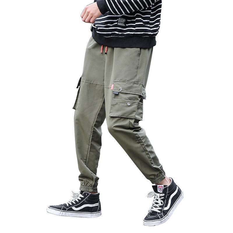 Męskie Spodnie Cargo Tanie Tendencja Duży Rozmiar Modna Marka Męska Szerokie Zielony