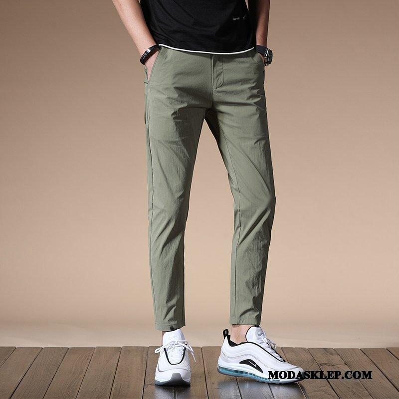 Męskie Spodnie Kup Mały Męska Tendencja Slim Fit Wiosna Zielony
