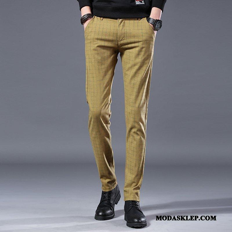 Męskie Spodnie Kup Slim Fit Nowy Młodzież Szerokie Tendencja Brązowy Czarny