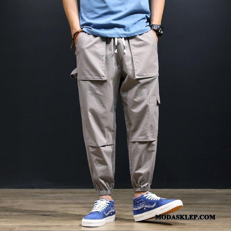 Męskie Spodnie Kup Więcej Kieszeni Modna Marka Duży Rozmiar Harlan Spodnie Cargo Szary