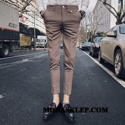 Męskie Spodnie Na Sprzedaż Slim Fit Lato Męska Chudy Casualowe Spodnie Khaki