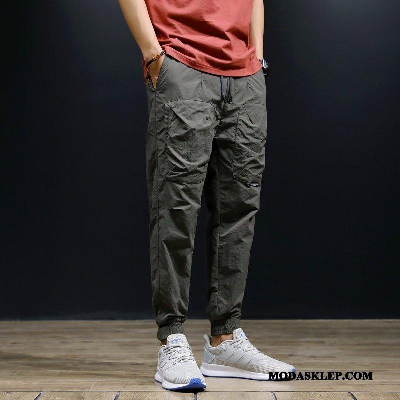 Męskie Spodnie Sklep Casualowe Spodnie Spodnie Cargo Slim Fit Szerokie Duży Rozmiar Zielony