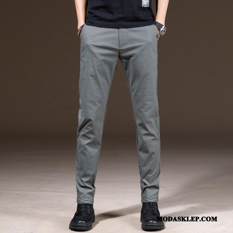 Męskie Spodnie Sprzedam Casualowe Spodnie Nowy Męska Wiosna Lato Szary