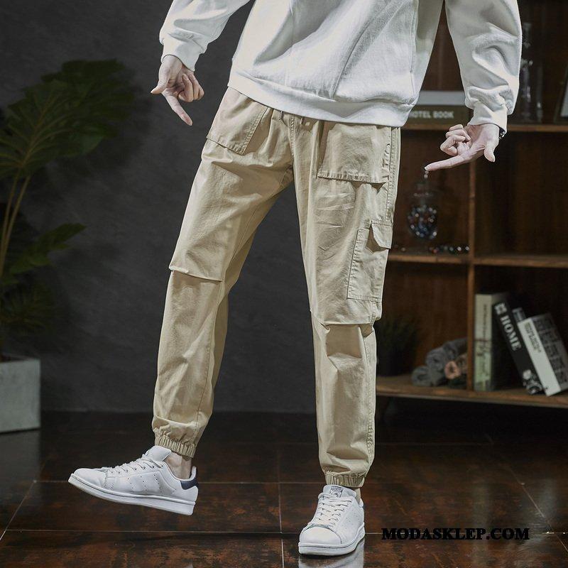 Męskie Spodnie Sprzedam Męska Wiosna Modna Marka Casualowe Spodnie Slim Fit Khaki