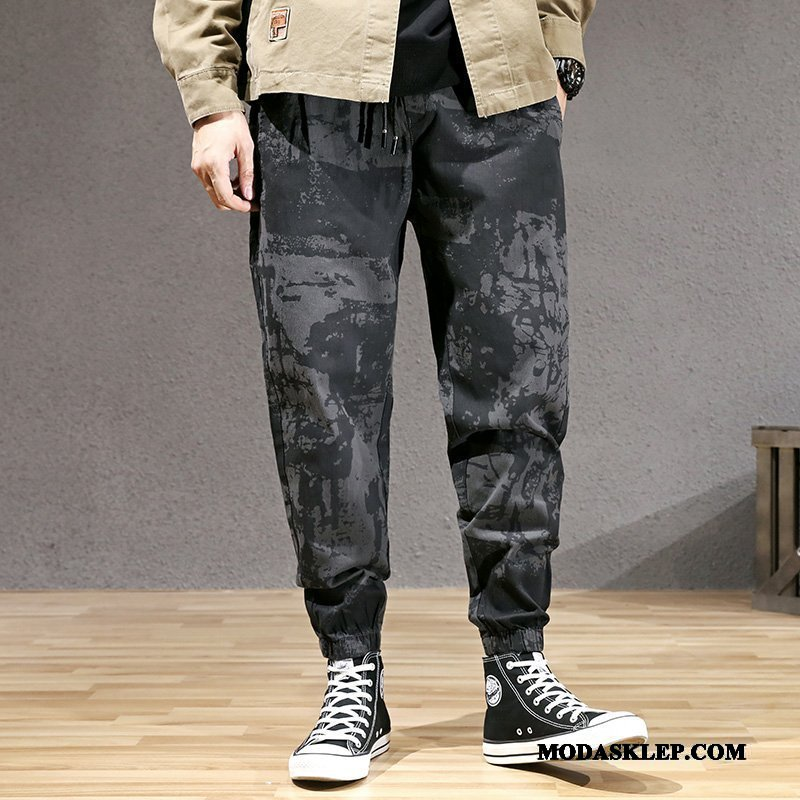 Męskie Spodnie Sprzedam Ołówkowe Spodnie Duży Rozmiar Tendencja Harlan Casual Kamuflaż Czarny