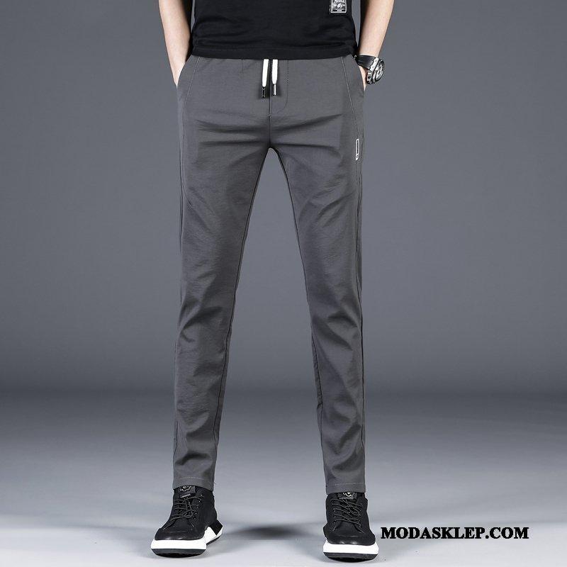 Męskie Spodnie Sprzedam Spodnie Dresowe Slim Fit Casualowe Spodnie Elastyczne Męska Szary