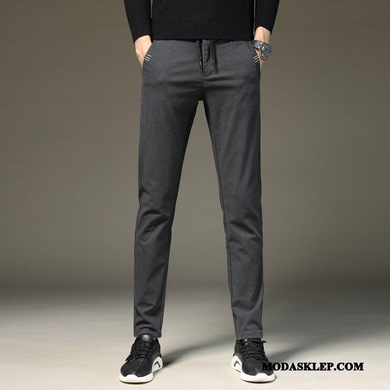 Męskie Spodnie Tanie Elastyczne Męska Casualowe Spodnie Szary