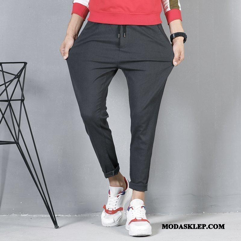Męskie Spodnie Tanie Ołówkowe Spodnie Elastyczne Zima Casualowe Spodnie Nowy Szary Czarny