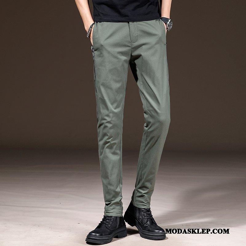 Męskie Spodnie Tanie Tendencja Mały Proste Slim Fit Męska Czarny Zielony