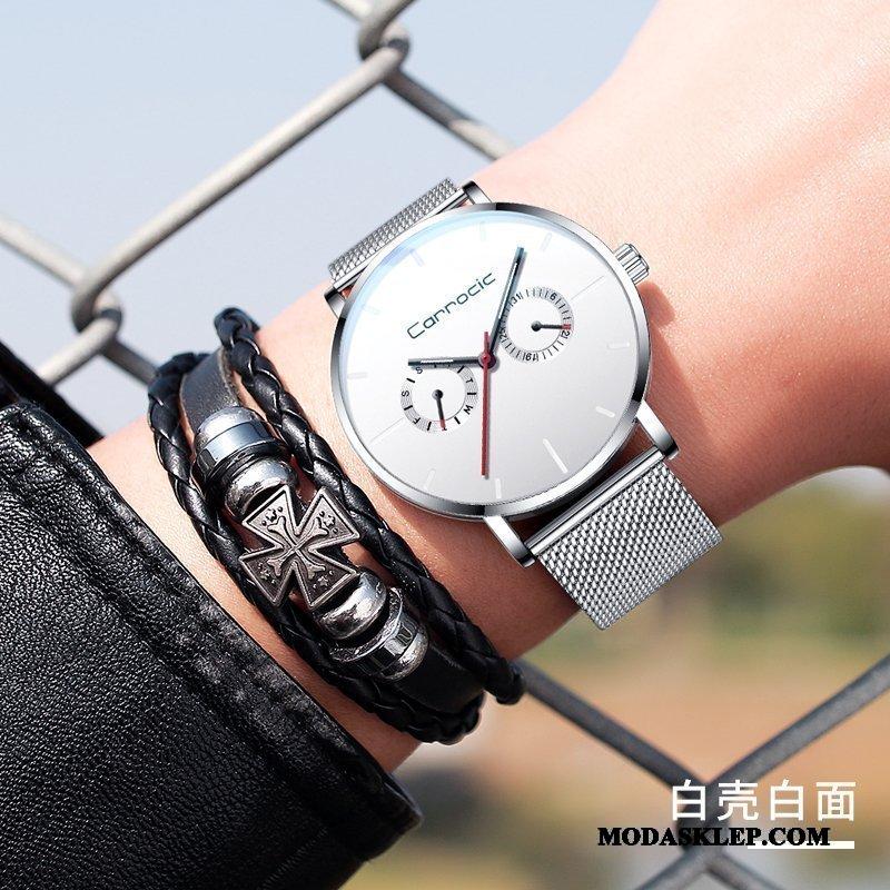Męskie Zegarek Na Rękę Dyskont Męska 2019 Prosty Nowy Oryginalne Biały