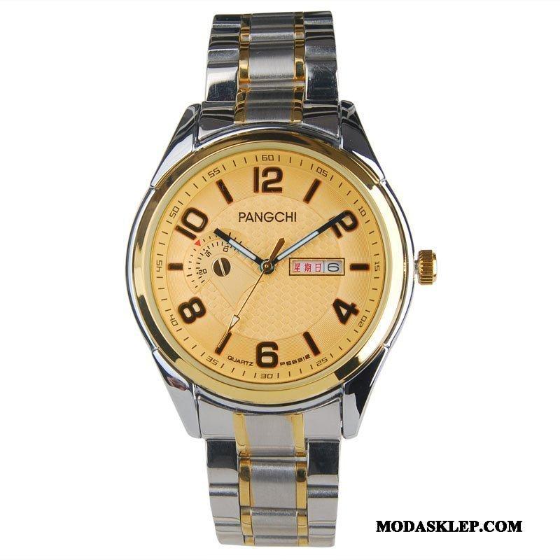 Męskie Zegarek Na Rękę Kup Męska Średni Wodoodporny Damska Wielki Złoty