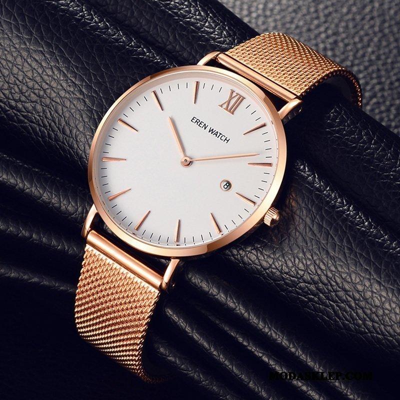 Męskie Zegarek Na Rękę Kupię Trendy Męska Zegarek Kwarcowy Biznes Moda Róża Złoty Biały