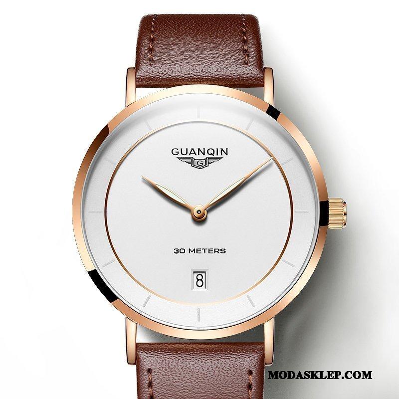 Męskie Zegarek Na Rękę Online Trendy Świecące Casual Wodoodporny Moda Złoty Biały Brązowy