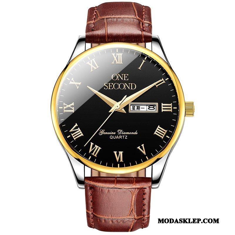 Męskie Zegarek Na Rękę Sklep Cienkie Oryginalne Męska Biznes Nowy Brązowy
