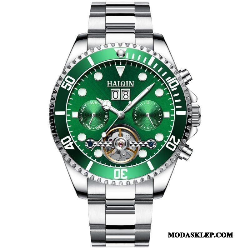 Męskie Zegarek Na Rękę Sklep Męska Świecące Wodoodporny Oryginalne Nowy Zielony
