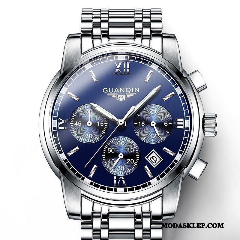 Męskie Zegarek Na Rękę Sklep Zegarek Kwarcowy Stal Nierdzewna Świecące Męska Moda Niebieski
