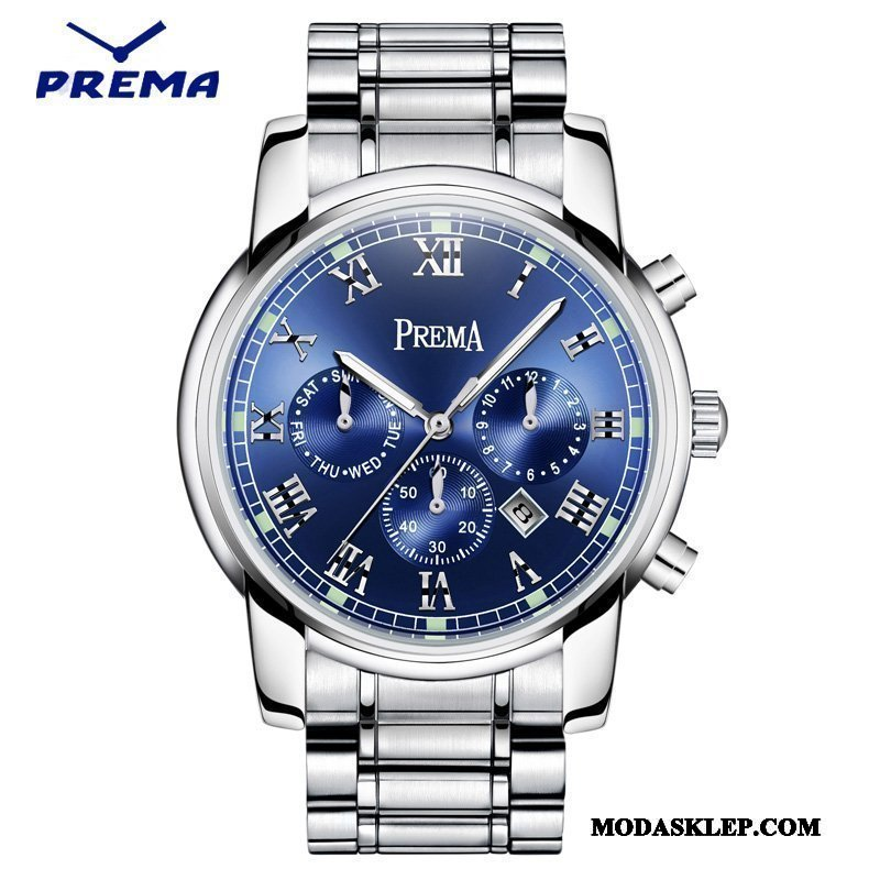 Męskie Zegarek Na Rękę Sprzedam Moda Męska Wodoodporny Świecące Paski Niebieski