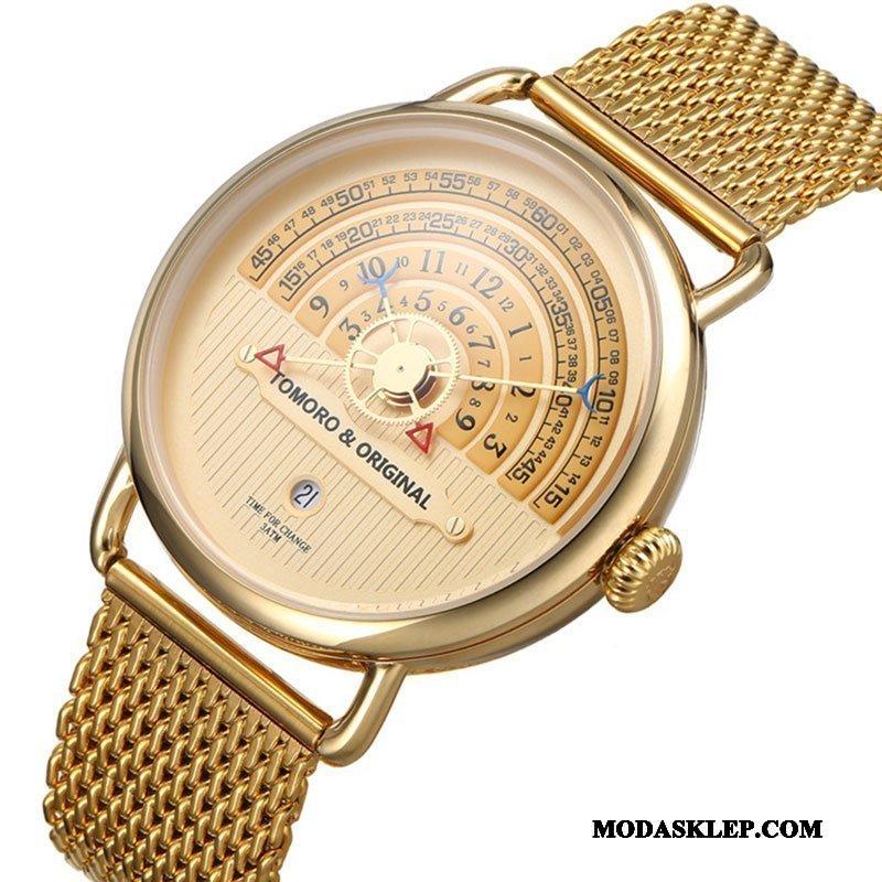Męskie Zegarek Na Rękę Sprzedam Nowy Twórczy Trendy Męska 2019 Złoty