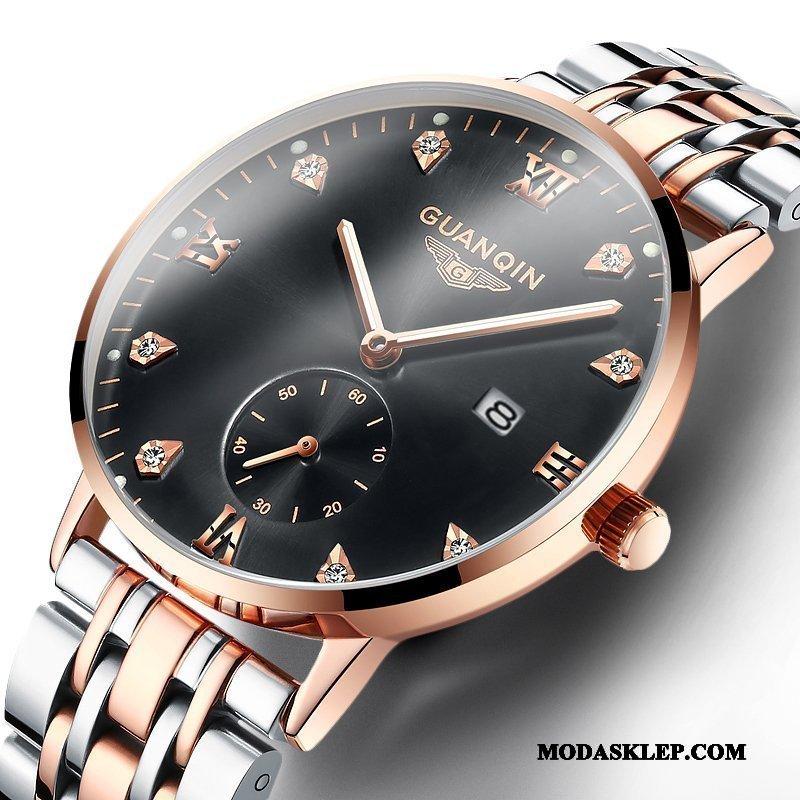 Męskie Zegarek Na Rękę Tanie Moda Nowy Wodoodporny Świecące Oryginalne Złoty Czarny