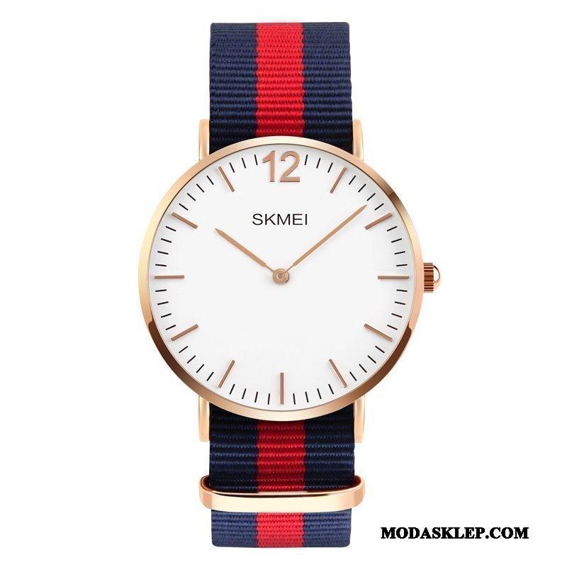 Męskie Zegarek Na Rękę Tanie Moda Nylon Trendy Skóra Dorosły Niebieski Czerwony