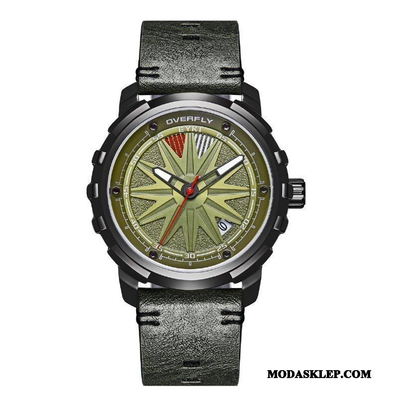 Męskie Zegarek Na Rękę Tanie Trendy Sportowe Oryginalne Moda Osobowość Zielony